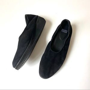 Eileen Fisher Mellow Black Suede wedge